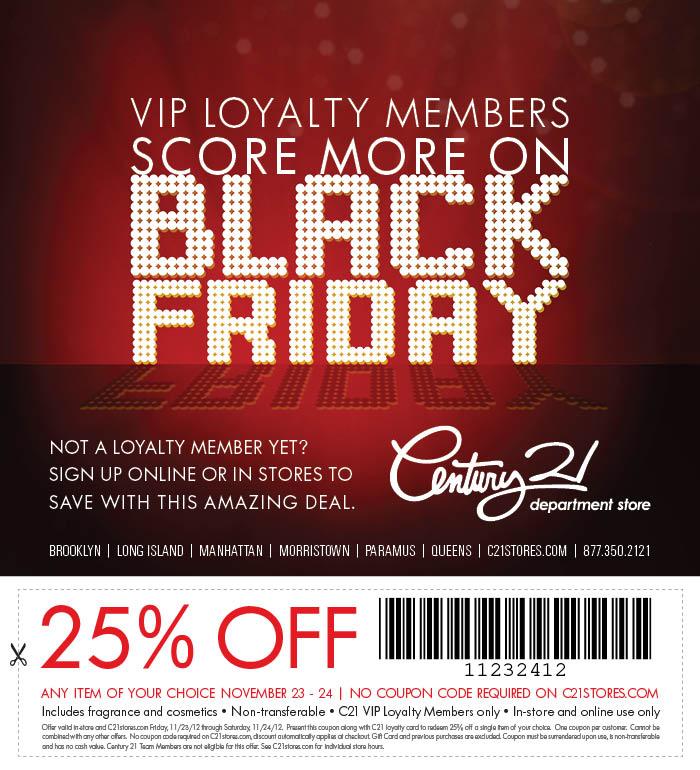 century 21 department store black friday deals