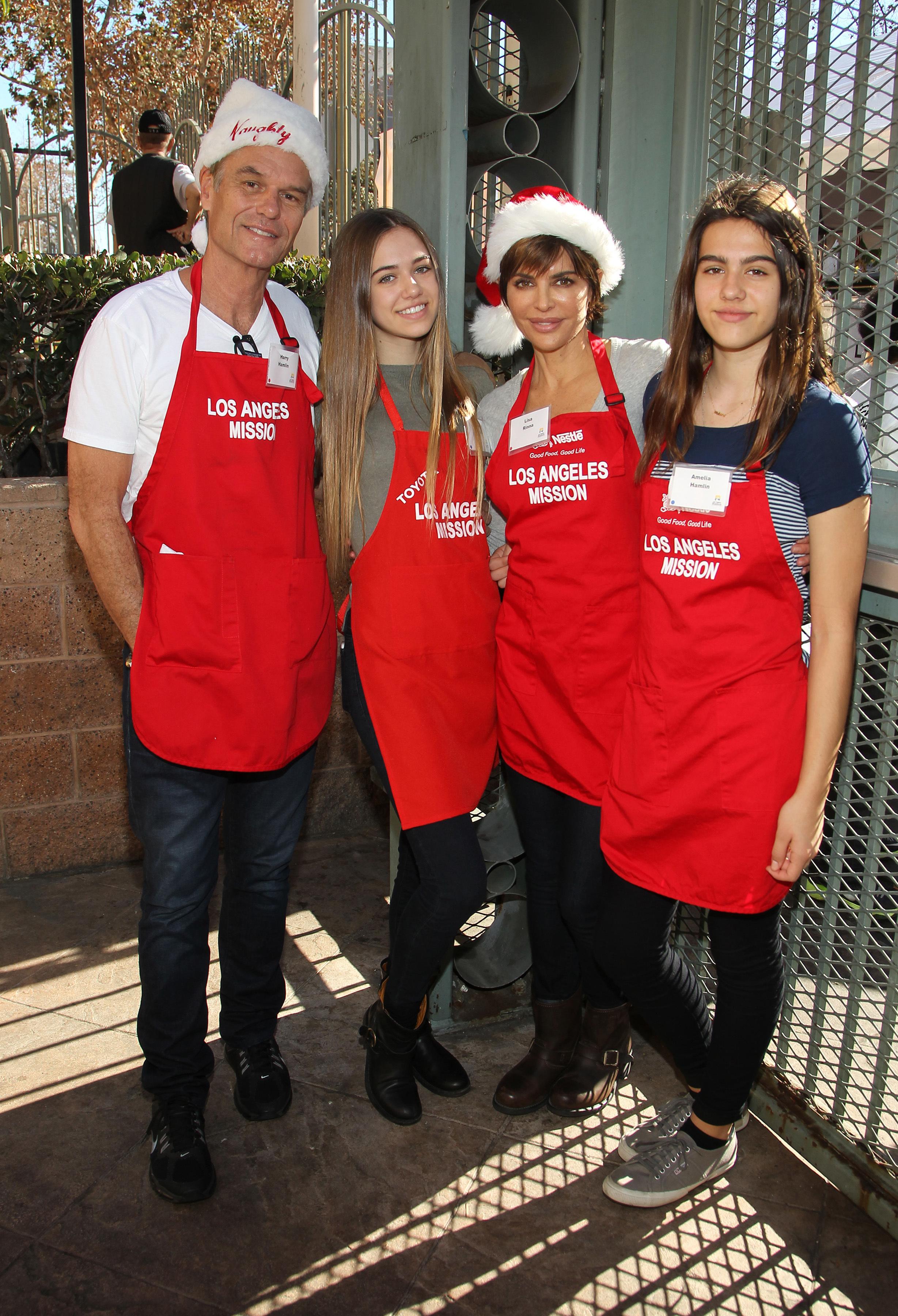 Harry Hamlin, Lisa Rinna & Daughters Charitable Christmas