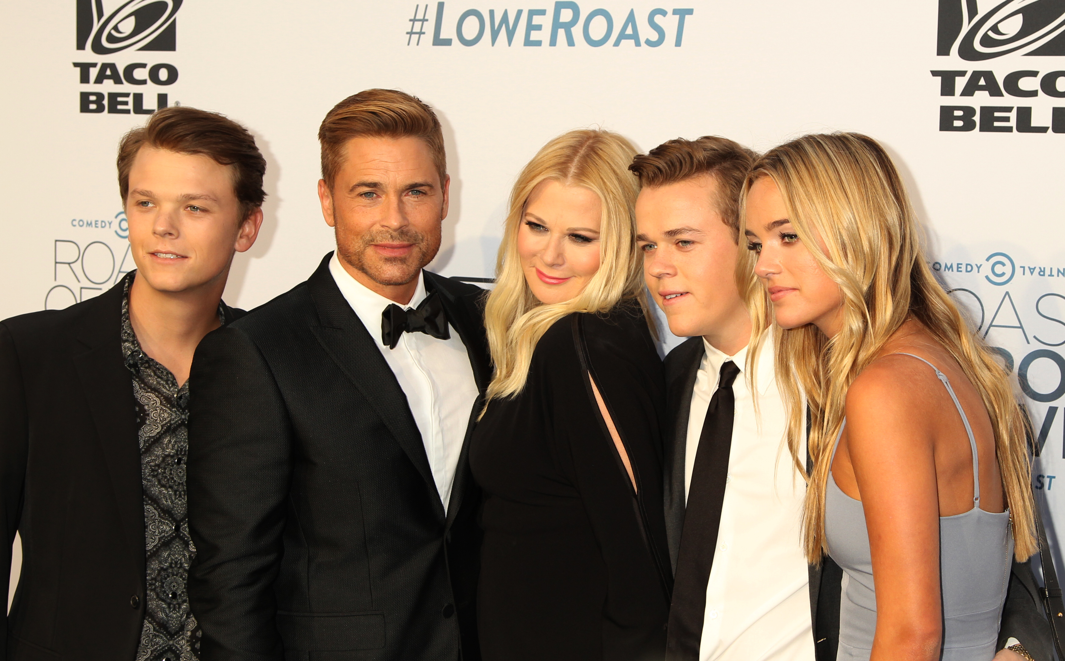 rob lowe s family rules the roast at comedy central new. Black Bedroom Furniture Sets. Home Design Ideas